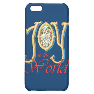 Joy to the World with Stained Glass Nativity Case For iPhone 5C