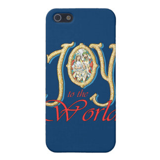 Joy to the World with Stained Glass Nativity iPhone SE/5/5s Case