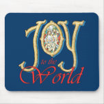 Joy to the World with Stained Glass Nativity Mousepad
