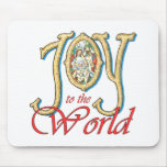 Joy to the World with Stained Glass Nativity Mouse Pad