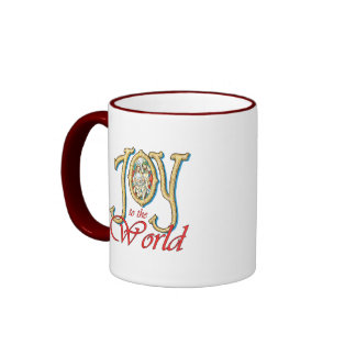 Joy to the World with Stained Glass Nativity Coffee Mug