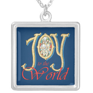 Joy to the World with Stained Glass Nativity Jewelry