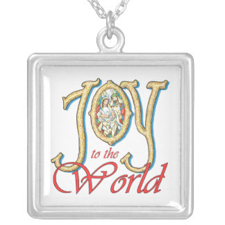 Joy to the World with Stained Glass Nativity Custom Jewelry