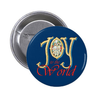 Joy to the World with Stained Glass Nativity Pin