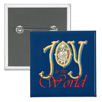 Joy to the World with Stained Glass Nativity Pins