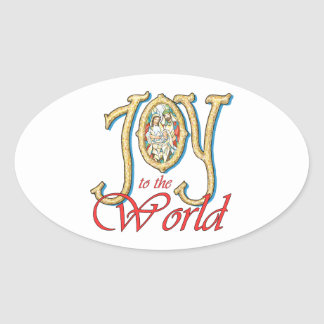 Joy to the World with Stained Glass Nativity Stickers