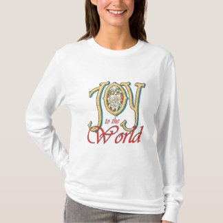 Joy to the World with Stained Glass Nativity T-Shirt