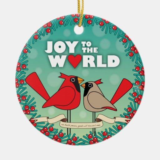 joy to world Christmas ornament