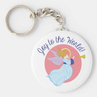 Joy To World Keychain