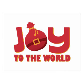 Joy To World Postcard