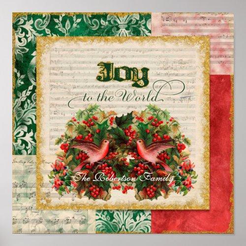 Joy to World Vintage Christmas Carol Sheet Music