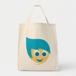 Grocery Tote with Cute Cartoon Joy from Inside Out design