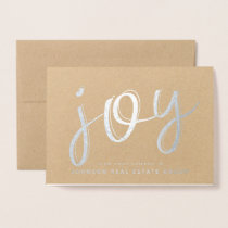 Joy Typography | Holiday Greetings Foil Card