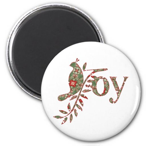 Joy Vintage Abstract Quilt Fridge Magnets