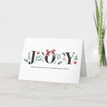 JOY Watercolor Holiday Foliage and Flowers