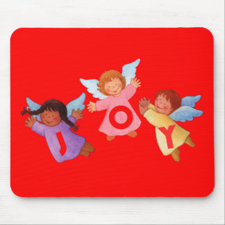 Joy  with Angels Mouse Pad