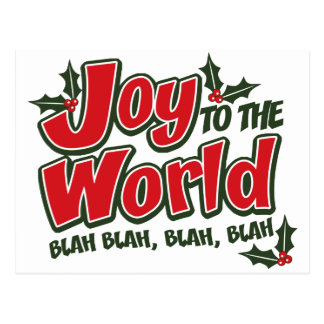 Joy World Blah Blah Postcard