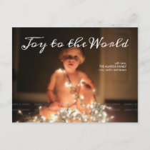 Joy World Holiday Photo Christmas Wishes Family