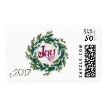 Joy Wreath 2017 Christmas Stamps