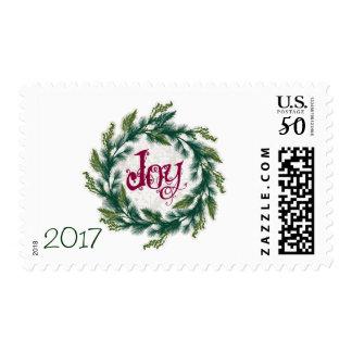 Joy Wreath 2017 Christmas Stamps