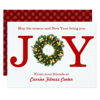 Joy Wreath Business - 6x8 Christmas Card