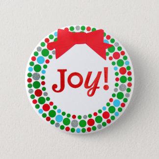 Joy Wreath Button