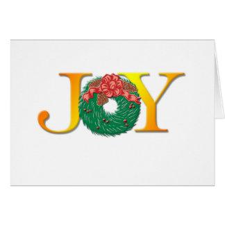 Joy Wreath Christmas Card