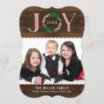 "Joy Wreath Holiday Photo Card Christmas Card<br><div class=""desc"">Celebrate the season with this modern and stylish holiday card from Berry Berry Sweet. Matching items and more design options are available at our store: www.berryberrysweet.com</div>"