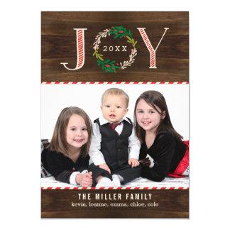 Joy Wreath Holiday Photo Card Christmas Card