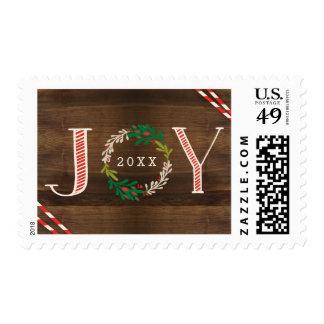 Joy Wreath Holiday Postage