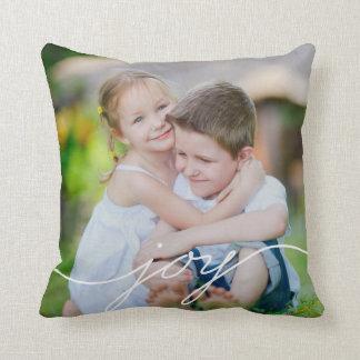 JOY Writing Custom Photo Throw Pillow