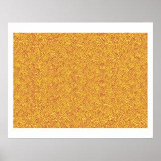 Joya amarilla de oro de Theraphy del color de la a Póster