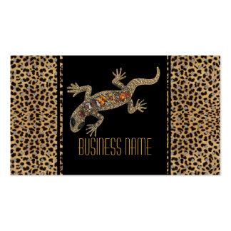 Joya animal del lagarto del negro de la tarjeta de tarjeta de negocio