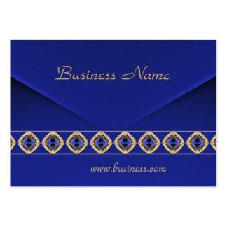 Joya azul rica 3 del terciopelo del negocio de la  tarjeta de visita