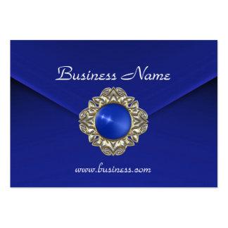 Joya azul rica del azul del terciopelo del negocio plantillas de tarjetas de visita