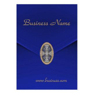 Joya azul rica del terciopelo del negocio de la ta tarjeta de negocio