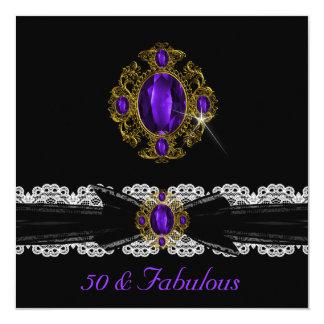 Joya blanca 50 del cordón del negro púrpura del comunicados