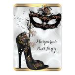 Joya blanca negra de la máscara del fiesta de la anuncio personalizado