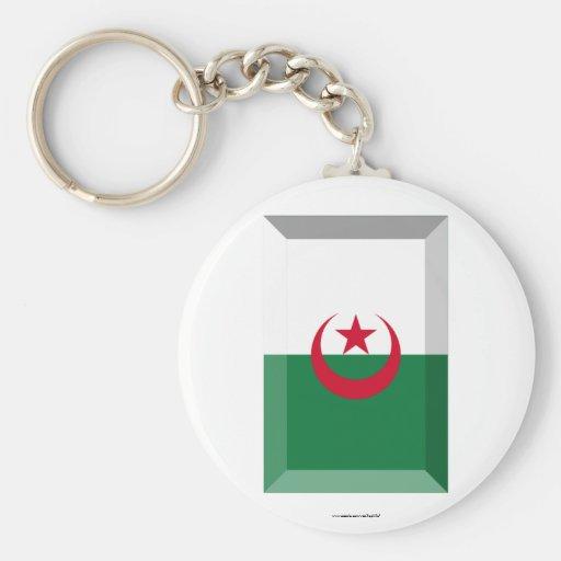 Joya de la bandera de Argelia Llavero Redondo Tipo Pin