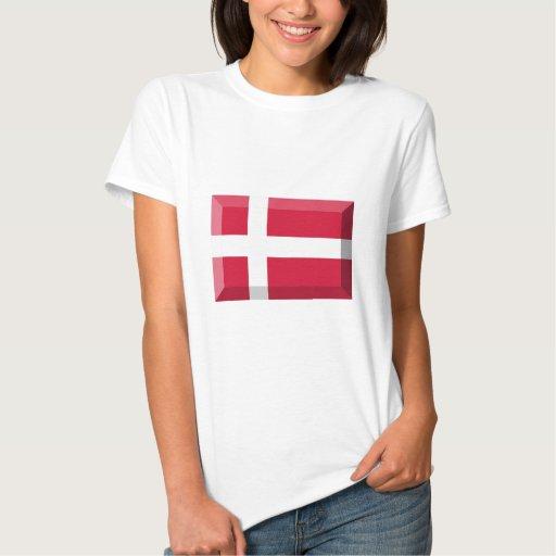 Joya de la bandera de Dinamarca Playeras