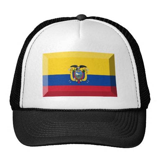 Joya de la bandera de Ecuador Gorros Bordados
