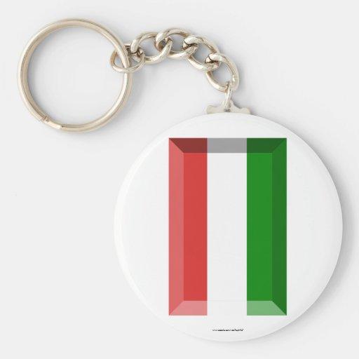 Joya de la bandera de Hungría Llavero Personalizado