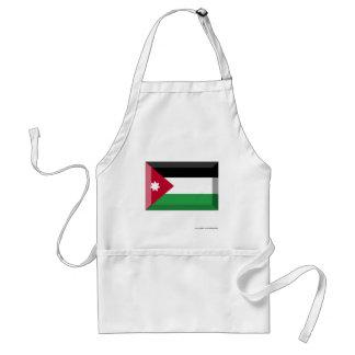 Joya de la bandera de Jordania Delantales