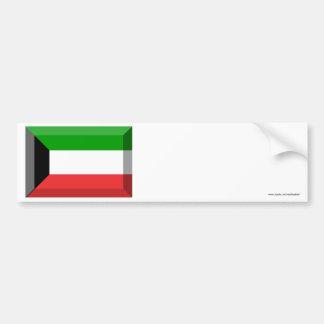 Joya de la bandera de Kuwait Etiqueta De Parachoque
