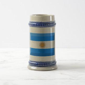 Joya de la bandera de la Argentina Tazas De Café