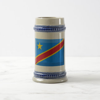 Joya de la bandera de la república Democratic de C Taza De Café