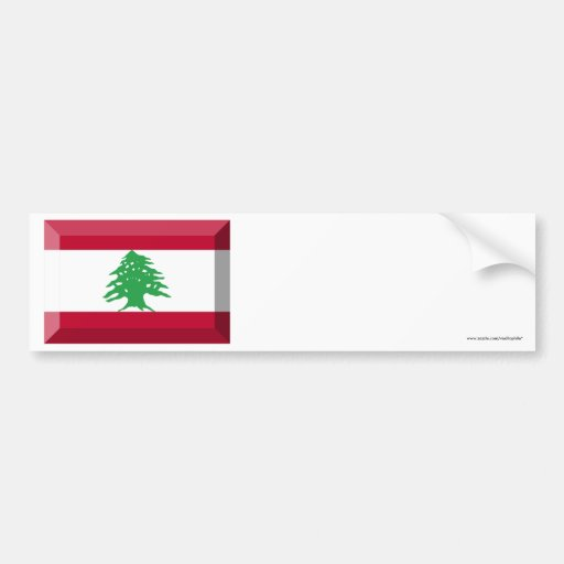 Joya de la bandera de Líbano Pegatina De Parachoque