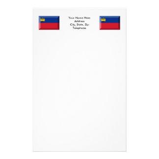 Joya de la bandera de Liechtenstein Papelería