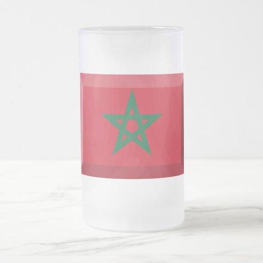 Joya de la bandera de Marruecos Tazas