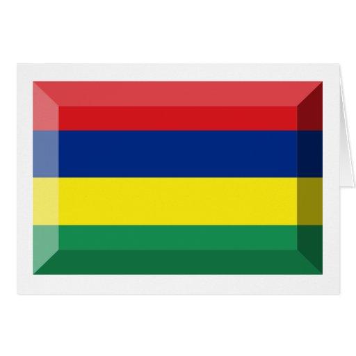 Joya de la bandera de Mauricio Tarjeta De Felicitación